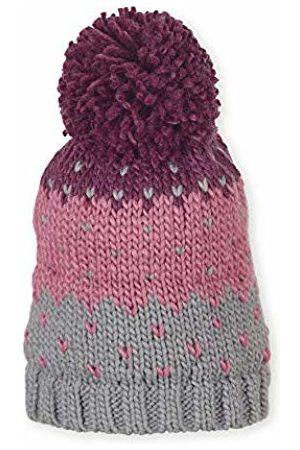 Sterntaler Girl's Bonnet Unisexe En Tricot Avec Pompon, Âge : 2-4 Ans, Taille : 53 cm, Violet/Rose/gris Beanie
