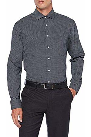 Seidensticker Men's Modern Fit Langarm mit Spread Kent-Kragen Bügelleicht Gepunktet-100% Baumwolle Formal Shirt, ( 19)