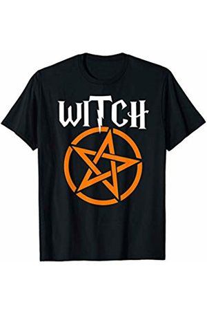 Miftees Witch Halloween funny Witch Pentagram T-Shirt
