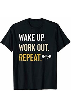Motivation And Success Shirts Wake Up Work Out Repeat Fitness Gym Motivation Inspiration T-Shirt