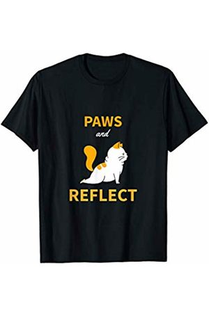 Funky Pet T-shirts Co. Cute Cat Yoga Poses Paws and Reflect T-Shirt For Pet Lovers T-Shirt