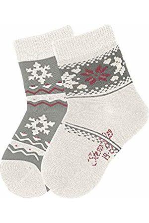 Sterntaler Girl's Söckchen 2er-Pack Folkore Chaussettes, (Ecru 903), 36 (Taille Fabricant: 34) Calf Socks, Écru