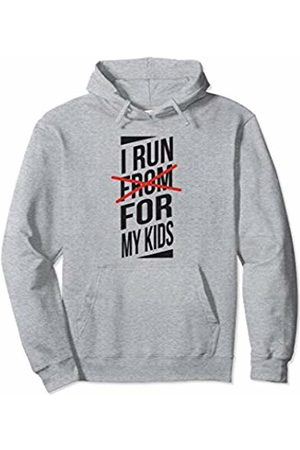 10K Mama I Run For My Kids - Funny Running Pullover Hoodie