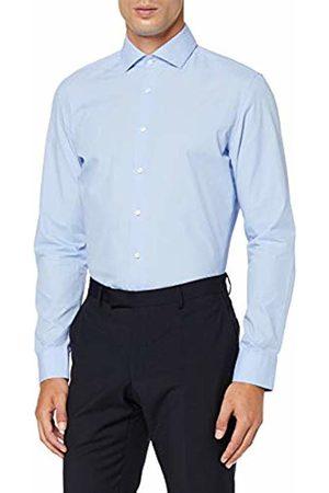 Seidensticker Men's Slim Fit Langarm mit Spread-Kent Kragen Bügelleicht Gepunktet-100% Baumwolle Formal Shirt