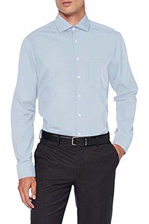Seidensticker Men's Modern Fit Langarm mit Spread Kent-Kragen Bügelleicht Gepunktet-100% Baumwolle Formal Shirt