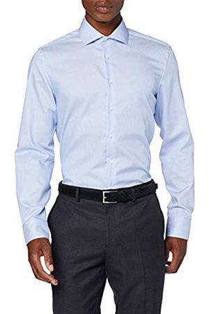 Seidensticker Men's Slim Fit Langarm mit Spread Kent-Kragen Gestreift-Seasonal-100% Baumwolle Formal Shirt