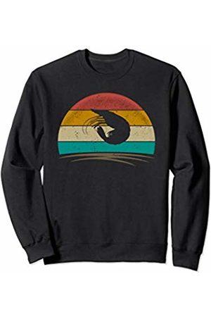 Wowsome! Vintage Shrimp Retro Vintage 70s Distressed Shrimp Men Women Sweatshirt