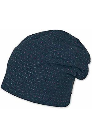 Sterntaler Baby Girls Slouch-Beanie, Sombrero para Bebés, Azul (Marine 300), 47 Flat Cap