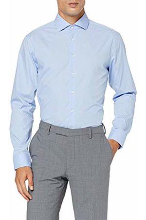 Seidensticker Men's Tailored Fit Langarm mit Spread Kent-Kragen Bügelleicht Gepunktet-100% Baumwolle Formal Shirt