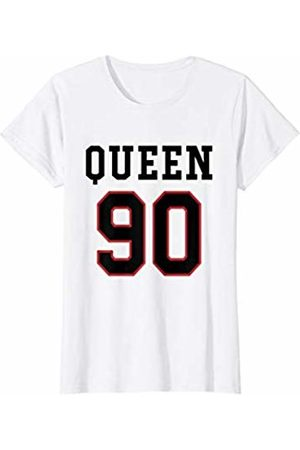Havous Womens 90th Birthday Gift Queen 90 Year Old T-Shirt