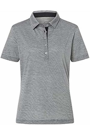 James & Nicholson Women's Ladies' Polo Bicolor Shirt, Carbon/