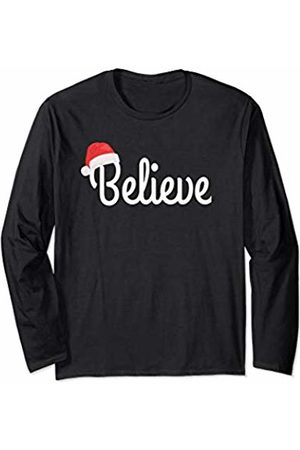 New Era Designs - Believe in Santa Christmas Believe in Santa Christmas Holiday Gift Idea for Kids Adults Long Sleeve T-Shirt