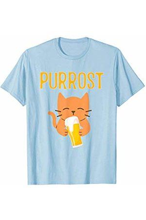 Oktoberfest Apparel by BUBL TEES Purrost Prost Oktoberfest Beer Drinking Cat T-Shirt