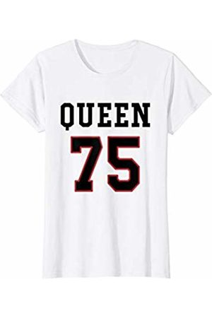 Havous Womens 75th Birthday Gift Queen 75 Year Old T-Shirt