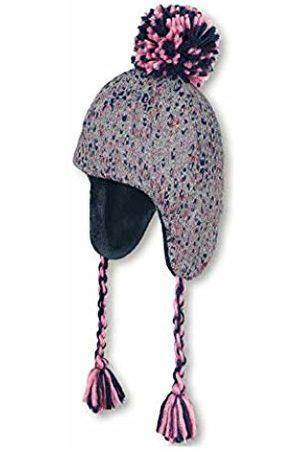 Sterntaler Baby Girls Bonnet Inca Pour Filles Avec Cordons Tressés, Âge: 9-12m, Taille: 47 cm, Gris/bleu Beanie
