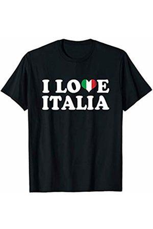 Tee Styley I Love Italia Italian Italy Italiano Family Heritage Funny T-Shirt