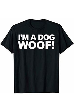 Miftees I'm a dog woof funny sarcastic Halloween costume T-Shirt