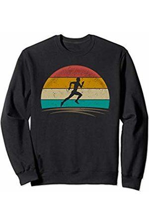 Wowsome! Vintage Runner Retro Vintage 70s Distressed Running Men Sweatshirt