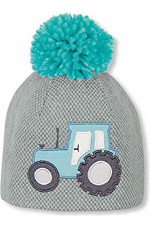Sterntaler Boy's Bonnet Pour Garçons Avec Pompon Et Motif Tracteur, Âge: 2-4 Ans, Taille: 53 cm, Turquoise Beanie, (Dunkeltürkis 475)