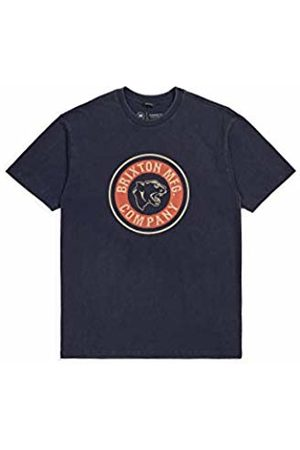 Brixton Men's Forte Standard FIT Short Sleeve T-Shirt Washed Navy