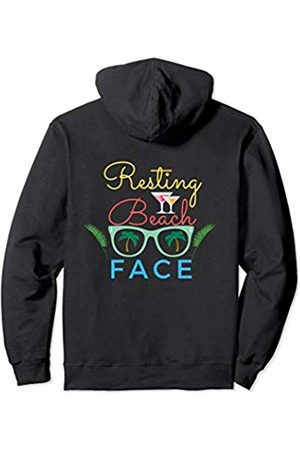 Funny Resting Beach Face Gift Women's Resting Beach Face Funny Workout Gift For Men Relax Pullover Hoodie