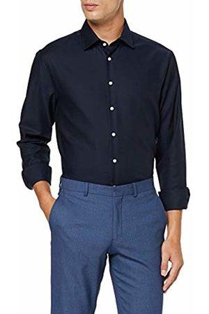 Seidensticker Men's Tailored Fit Langarm mit Business Kent-Kragen Bügelfrei Struktur-100% Baumwolle Formal Shirt