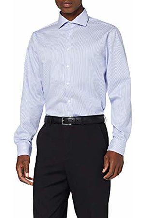 Seidensticker Men's Tailored Fit Langarm mit Spread Kent-Kragen Bügelleicht-Seasonal-100% Baumwolle Formal Shirt, ( 13)