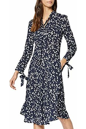 Apart Women's Printed Dress, Midnightblue-Cream