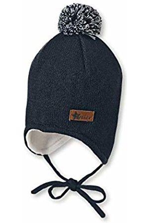 Sterntaler Baby Boys Bonnet Pour Garçon Avec Pompon Et Cache-oreilles, Âge : 3-4 Mois, Taille : 39 cm, Bleu Marine Beanie, 300