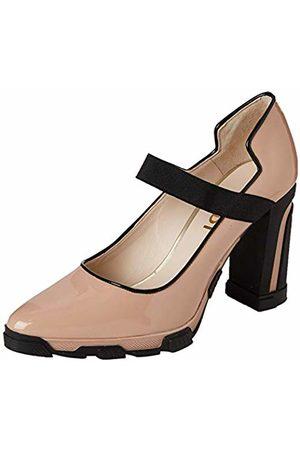Lodi Women's Urisa Closed Toe Heels, Charol Rubor