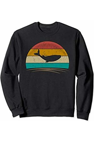 Wowsome! Vintage Whale Retro Vintage 70s Distressed Animal Men Women Sweatshirt