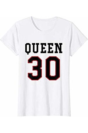 Havous Womens 30th Birthday Gift Queen 30 Year Old T-Shirt