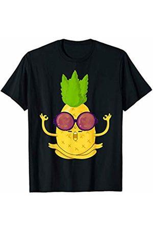 Cute Yoga Lovers Apparel Co. Pineapple Yoga Zen Meditation Cute Yoga Gifts For Women Men T-Shirt