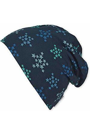 Sterntaler Boy's Bonnet Réversible Avec Motif Étoiles Et Rayures, Âge : 4-6 Ans, Taille : 55 cm, Bleu Beanie