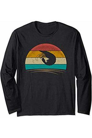 Wowsome! Vintage Shrimp Retro Vintage 70s Distressed Shrimp Men Women Long Sleeve T-Shirt