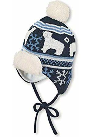 Sterntaler Baby Boys Bonnet De Avec Motif Ours Polaire Et Pompon, Âge: 3-4 Mois, Taille: 39 cm, Bleu Marine Beanie, 300