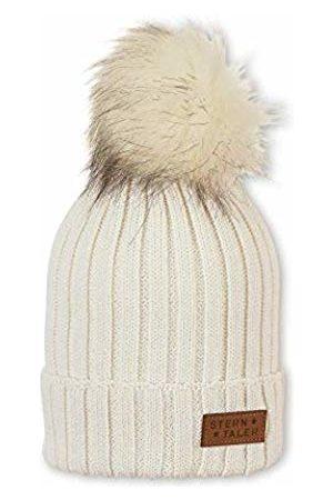 Sterntaler Girl's Bonnet Pour Filles Tricot Avec Pompon Et Écusson En Cuir, Taille: 51/53 cm, Écru Beanie, 908