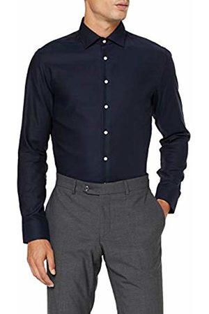 Seidensticker Men's Slim Fit Langarm mit Business Kent-Kragen Bügelfrei Struktur-100% Baumwolle Formal Shirt