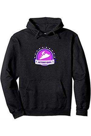 Jet Skiing Apparel Gifts Cute Jetski Girls Pink Logo Jet Skiing Water Sports Gift Pullover Hoodie