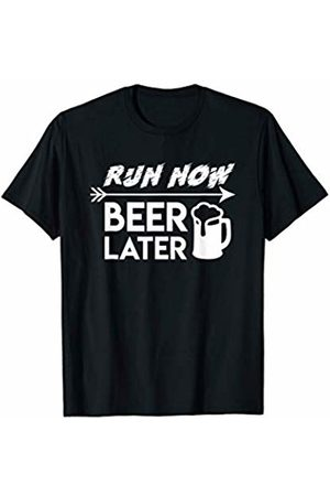 Saying funny t shirt Gift Run Now Beer Later Cool Design Running Beer Shirt Gift