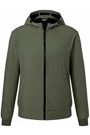 James & Nicholson Men's Hooded Softshell Jacket Olive/Camouflage