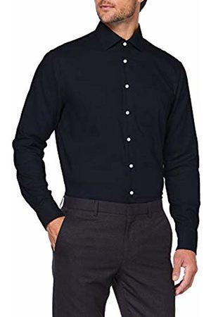 Seidensticker Men's Modern Fit Langarm mit Business Kent-Kragen Bügelfrei Struktur-100% Baumwolle Formal Shirt