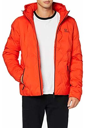 Superdry Men's New Echo Quilt Puffer Jacket, (Volcanic Lava N6h)