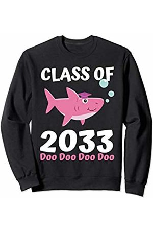 Back To School First day of School Shirts Apparel Class of 2033 Shark Doo Doo Doo Shirt Girls Grow With Me Sweatshirt