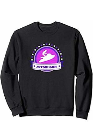 Jet Skiing Apparel Gifts Cute Jetski Girls Pink Logo Jet Skiing Water Sports Gift Sweatshirt