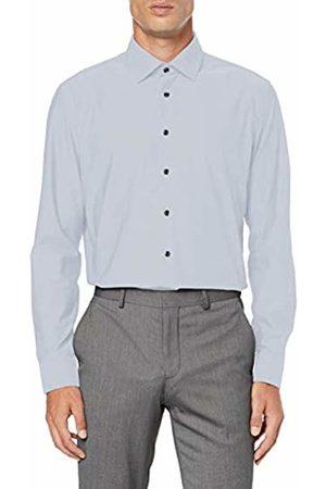 Seidensticker Men's Slim Fit Langarm mit Business Kent-Kragen Patch3 Bügelfrei Uni-100% Baumwolle Formal Shirt