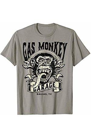 Gas Monkey Garage Cross Wrench Ribbon Logo T-Shirt