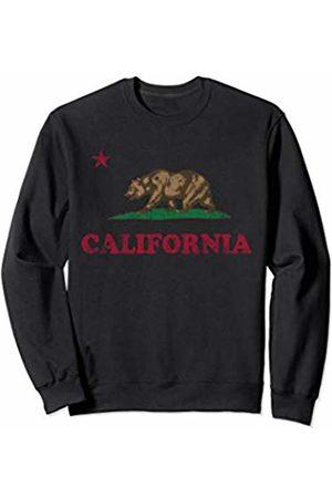 Tee Styley California Republic Flag Retro Fade Gift Men Women Sweatshirt