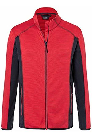 James & Nicholson Men's Structure Fleece Jacket /Carbon