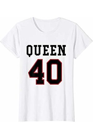 Havous Womens 40th Birthday Gift Queen 40 Year Old T-Shirt
